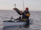 Kayak fishing cod