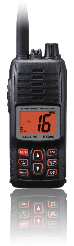Standard Horizon HS290 VHF radio Kayak Fishing