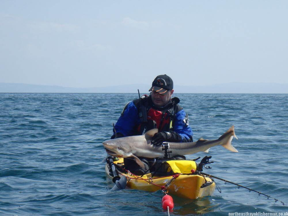 Big tope on the kayak - South West Scotland